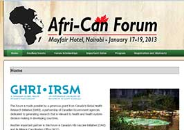 African Forum Website